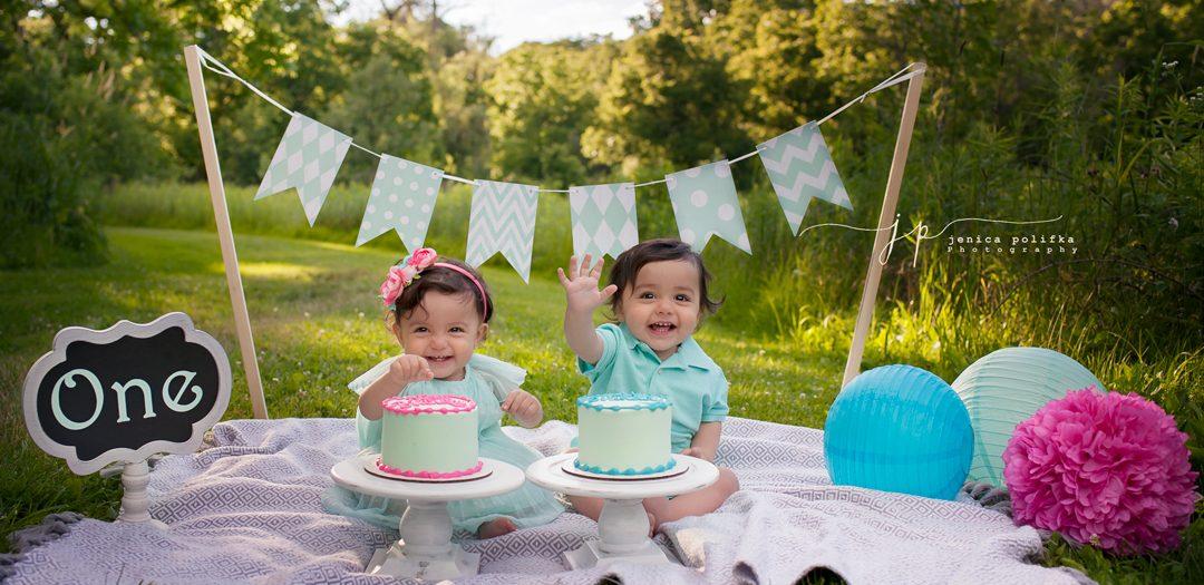 L & M Turn One! | Palatine Illinois Cake Smash Photography