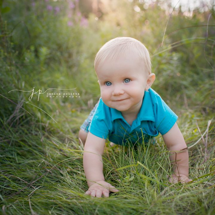 Little Boy Blue Eyes | Cook County Children's Photography